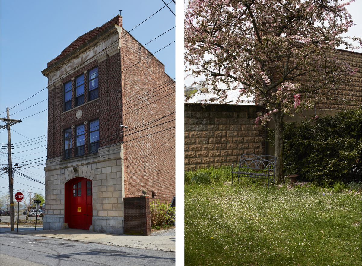 The building has pleasant view of the Tompkinsville neighborhood. The empty lot that's part of the property makes way for a yard and a garden. The three-story building is made of red brick and has gray-limestone accents.