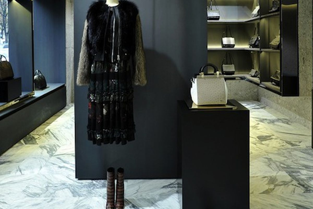 """Givenchy in Paris. Photo via <a href=""""http://www.wwd.com/retail-news/designer-luxury/givenchy-looks-to-capitalize-on-momentum-7266346/slideshow#/slideshow/article/7266346/7266363"""">WWD</a>"""