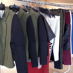 These super comfy neoprene moto jackets ($150) were going fast.