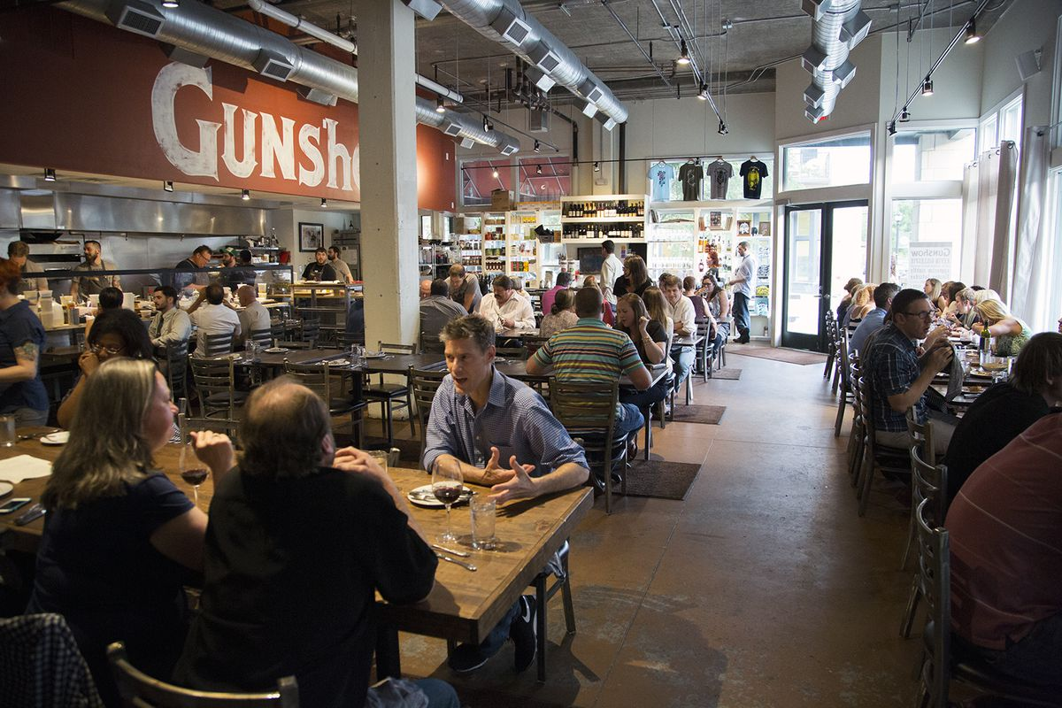 Inside the dining room at Gunshow.