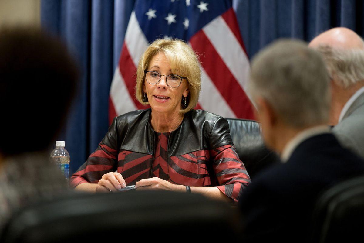 U.S. Education Secretary Betsy DeVos.