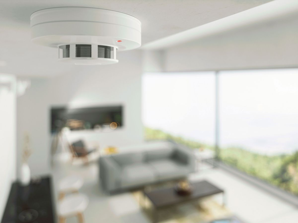 Smoke detector in a home