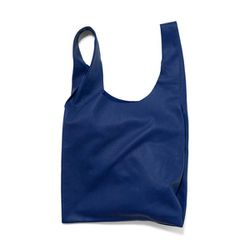 "<b>Baggu</b> Leather Bag M in cobalt, <a href=""https://baggu.com/shop/leatherbagm/cobalt"">$160</a>"