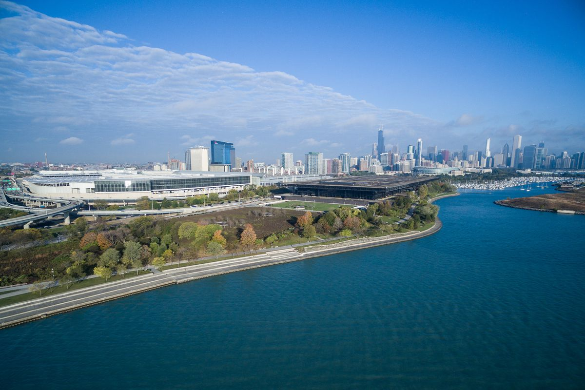 mccormick place chicago building labor convention demolish along bill center lakeside martin drive lakefront gets support sun times federation oldest