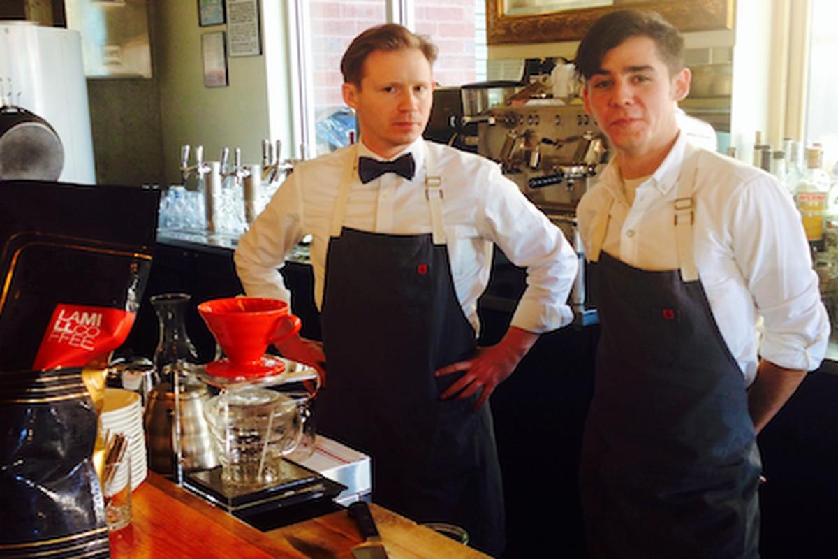 Alan Henkin (partner and beverage director at Basta) and Cody Taft