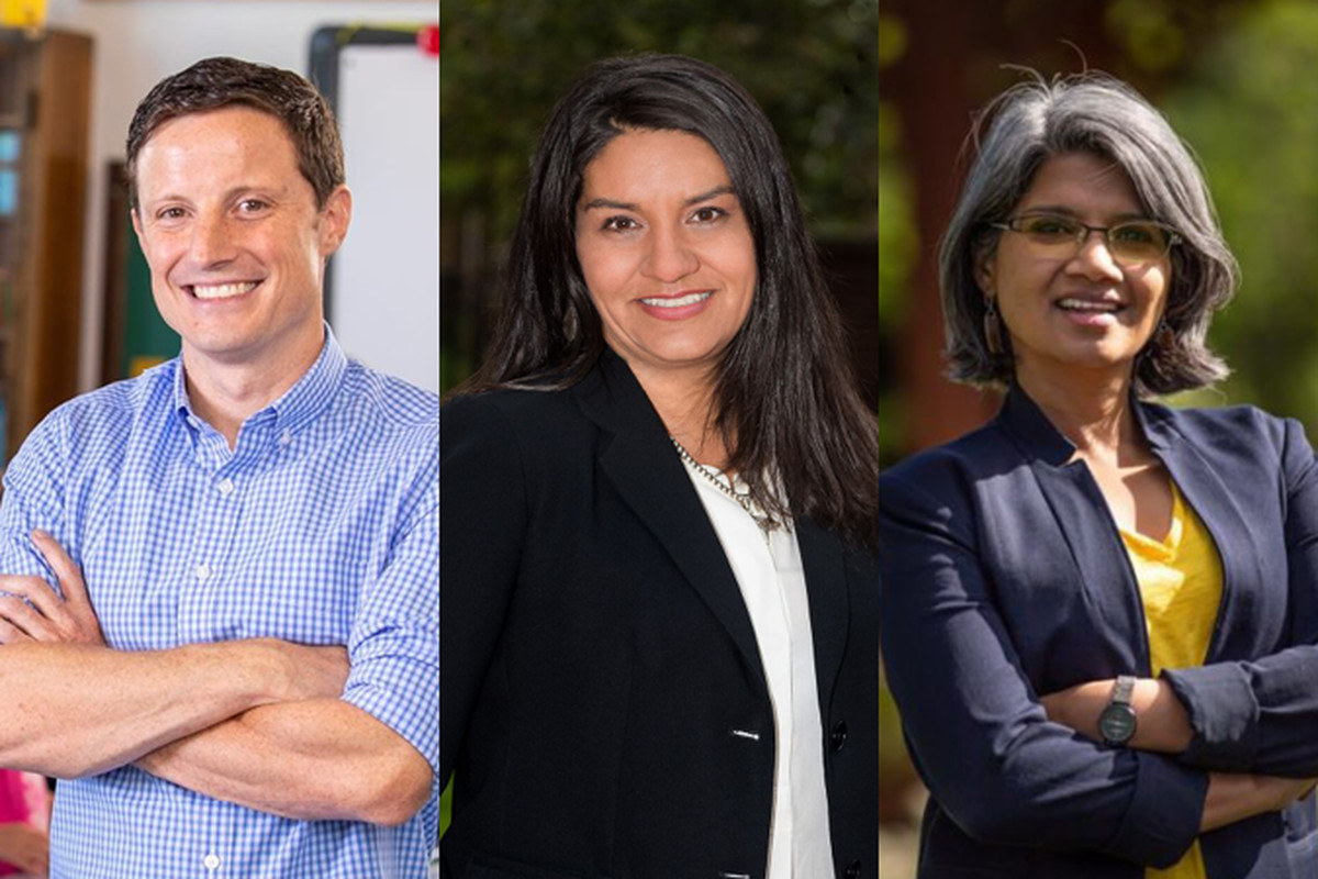 Scott Baldermann, Diana Romero Campbell, and Radhika Nath are seeking the District 1 seat on the Denver school board.