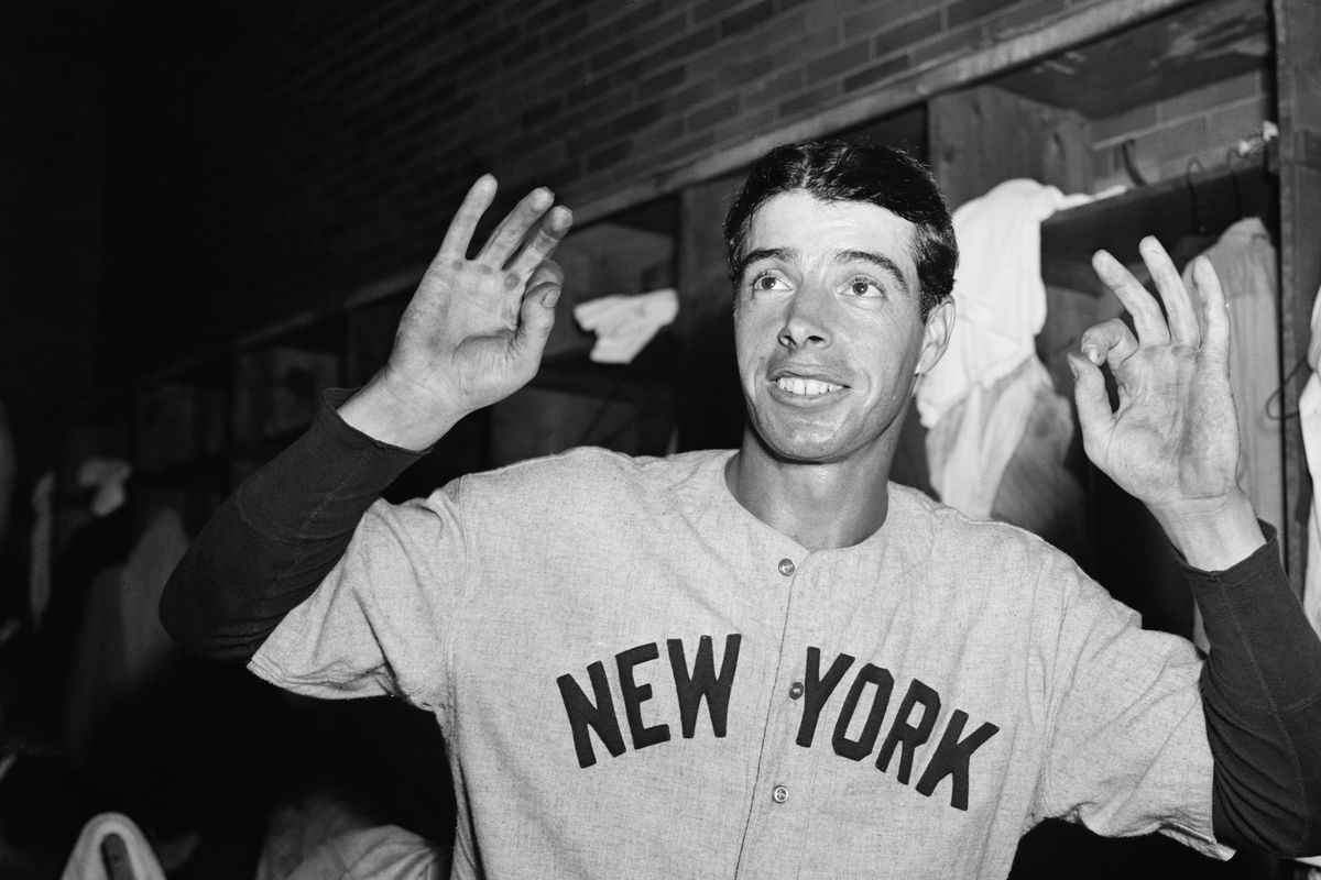 "Joe DiMaggio Making ""Zeros"" With Fingers"