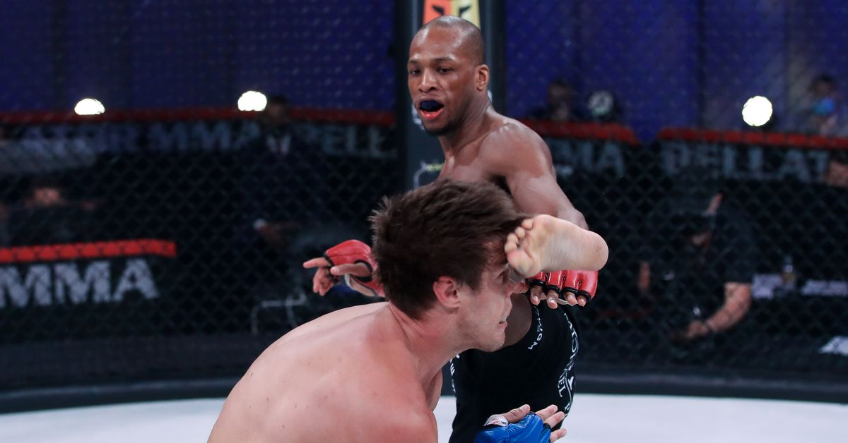 Bellator 258 video: Michael 'Venom' Page breaks Derek Anderson's nose with face kick