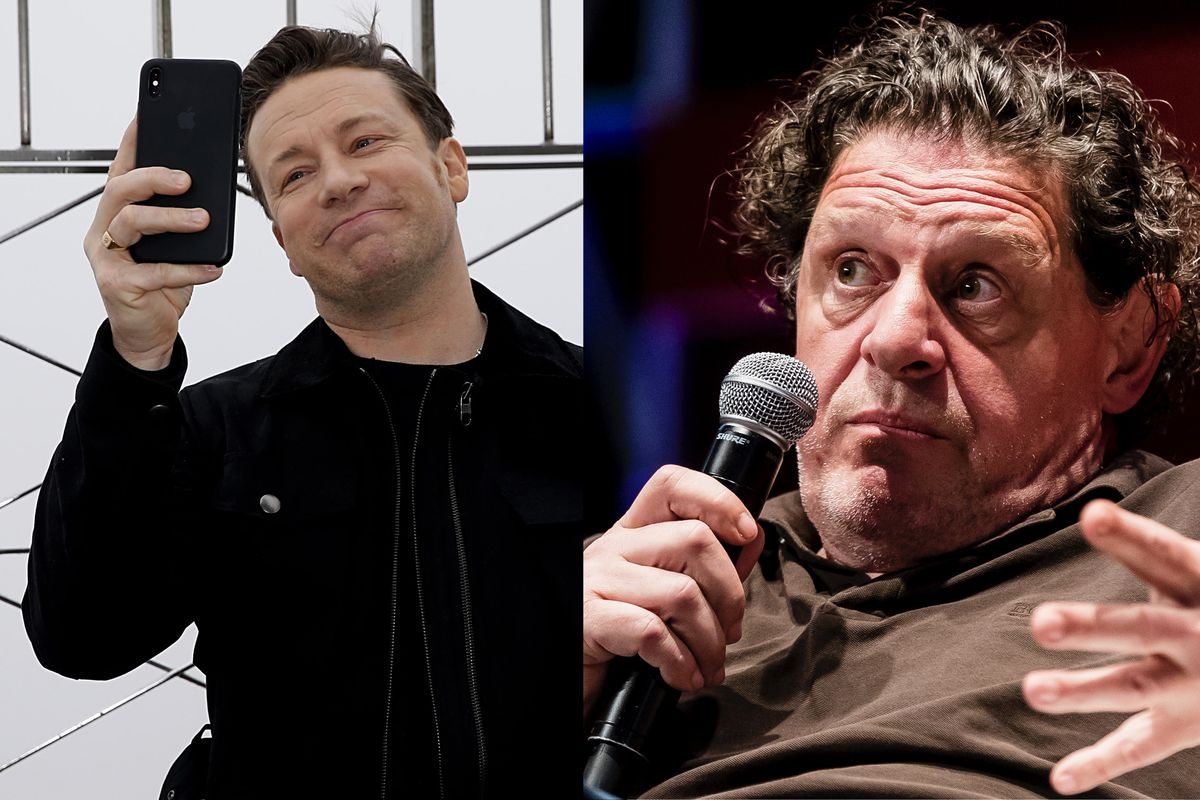 Jamie Oliver and Marco Pierre White fight over their chain restaurants, Jamie's Italian and Black and White Hospitality