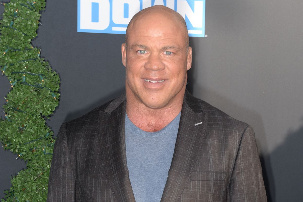 Kurt Angle attends WWE 20th Anniversary Celebration Marking Premiere of WWE Friday Night SmackDown on FOX at Staples Center on October 04, 2019 in Los Angeles, California.