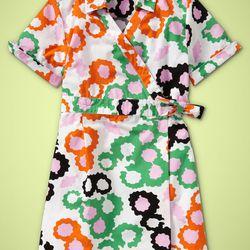 DVF Girls Wrap Dress Multifloral $65