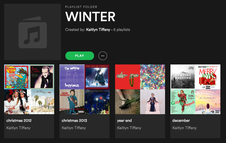 i find sorting my playlists by seasons to be very helpful mainly because like many people seasons are the way i organize musical memories in my brain - Best Spotify Christmas Playlist