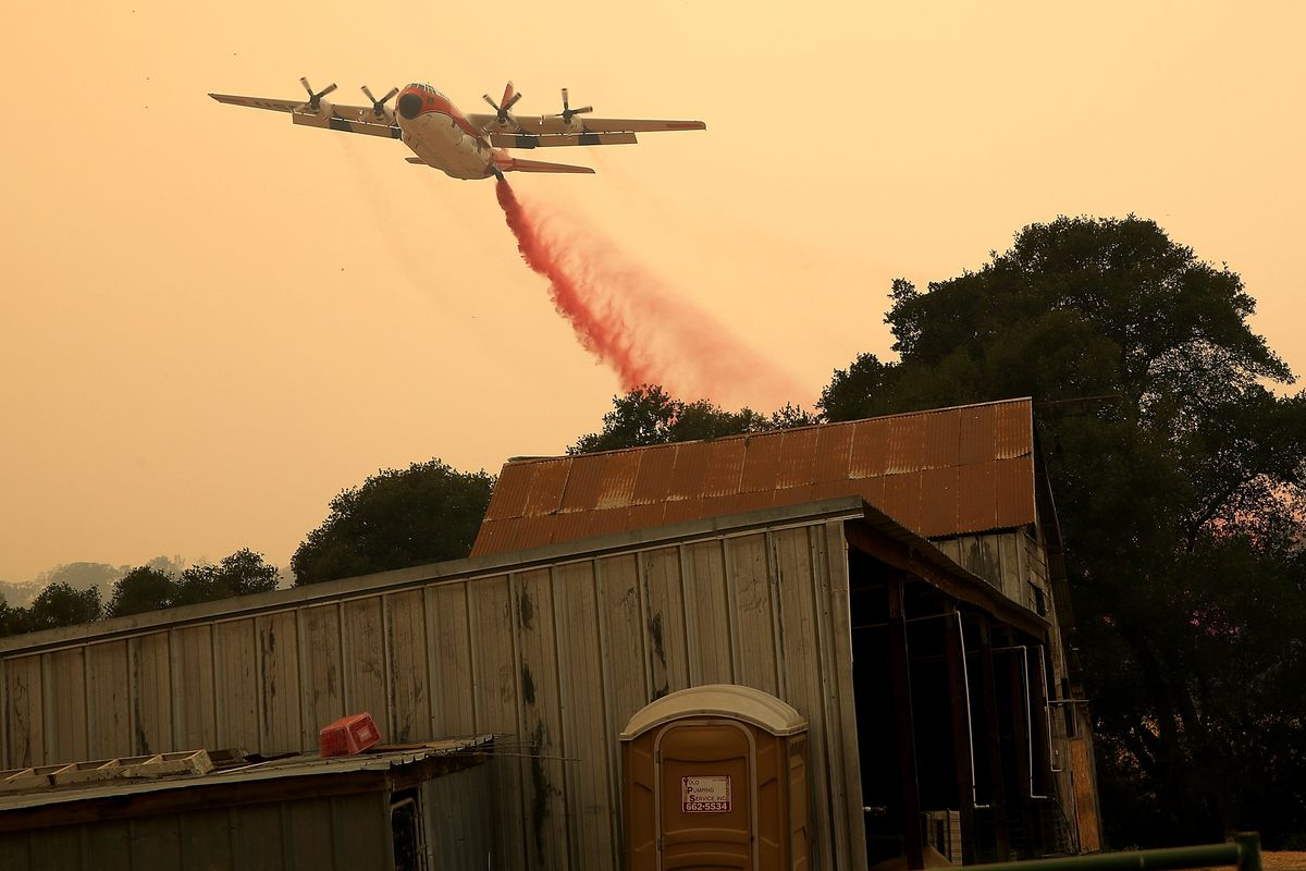 County Fire Burns Over 45,000 Acres In Remote Yolo County, California