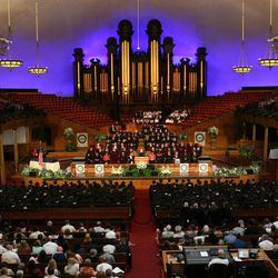 LDS Business College's 126th commencement ceremony in the Tabernacle on Temple Square in Salt Lake City on Friday, April 12, 2013.