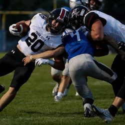 Stansbury hosts Park City in a high school football game in Stansbury Park on Friday, Sept. 18, 2020.
