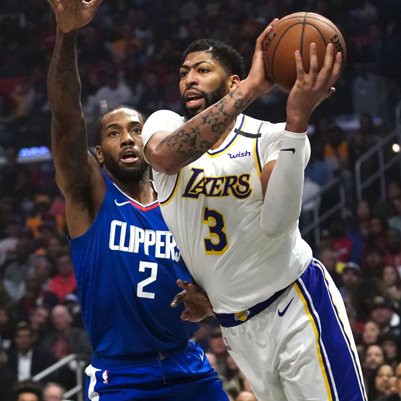 Lakers Vs Clippers Score Lebron James Anthony Davis Lead Way In Win Draftkings Nation