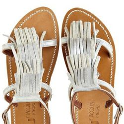 """Fringe Sandal by K. Jacques, $425 at <a href=""""http://www.calypsostbarth.com/accessories/shoes/view-all/fringe-sandal"""">Calypso St Barth</a>."""