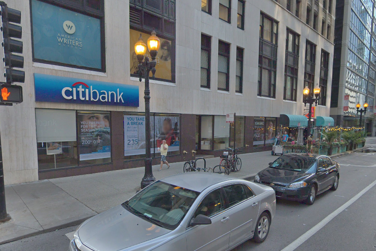 A Citibank branch was robbed Wednesday.