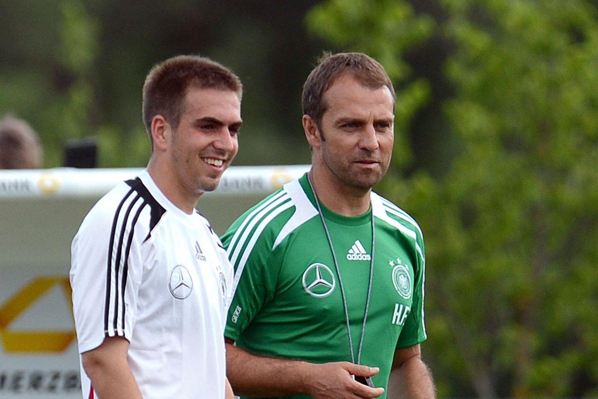 Germany's assistant coach Hans Dieter Fl