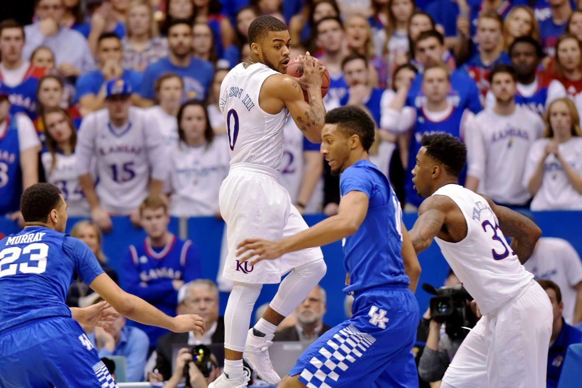 NCAA Basketball: Kentucky at Kansas