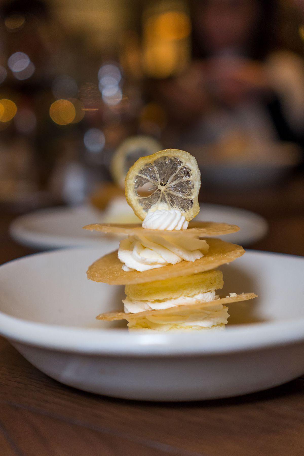 Millefoglie al limone at Manzo