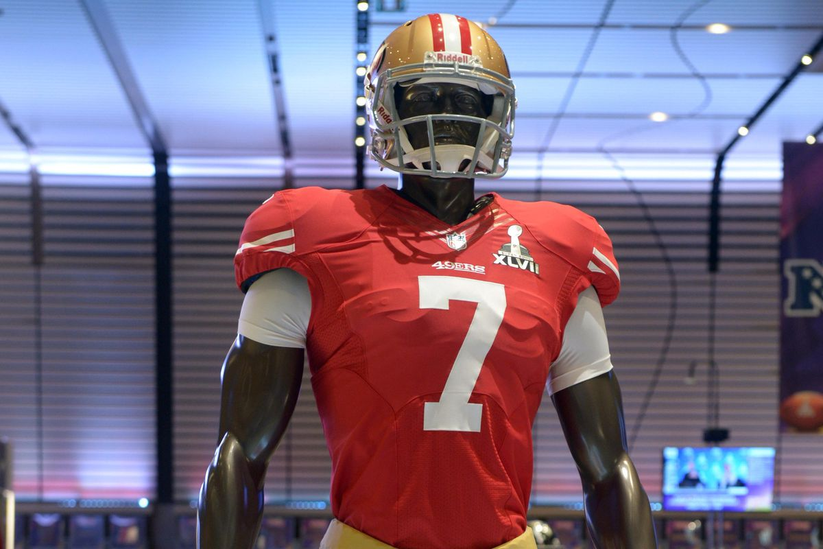 low priced 94ce0 d1de4 49ers likely wearing red home jerseys for Thursday Night ...