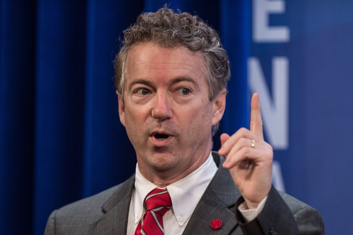 Rand Paul speaks at the Heritage Action policy summit on January 13.