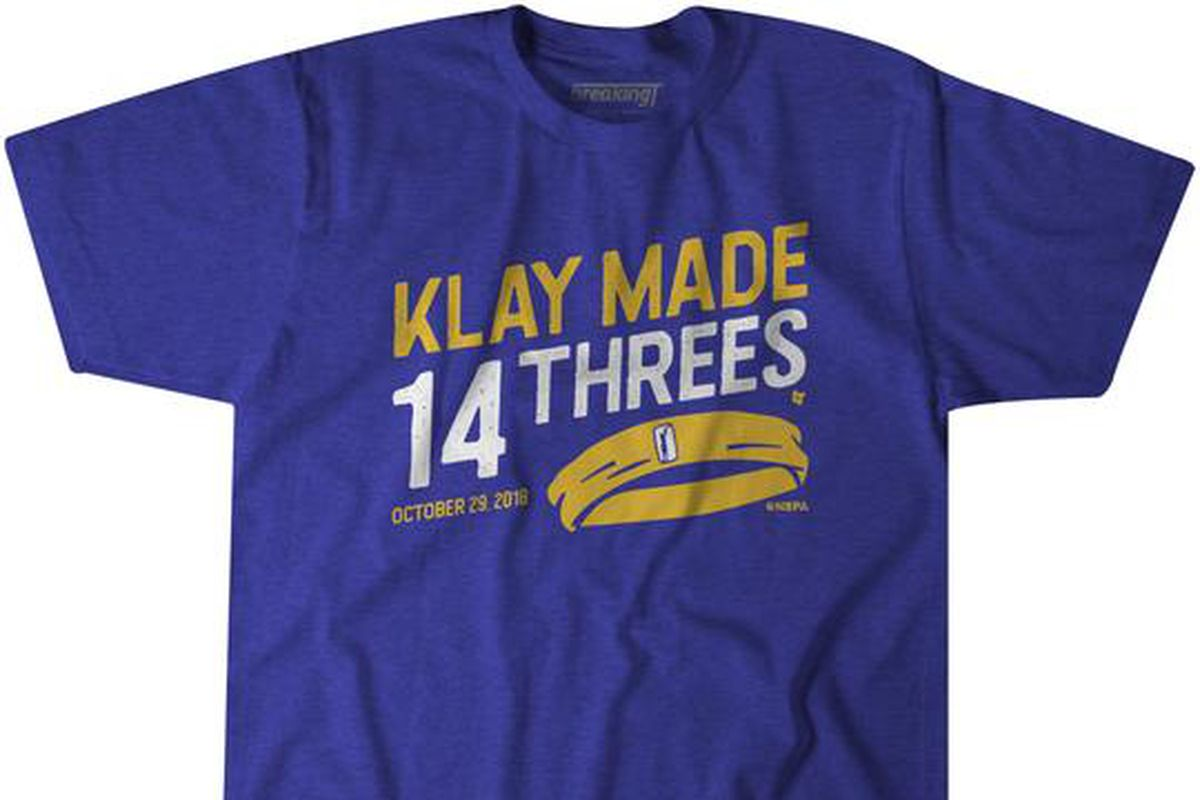 big sale 26444 8d01a Warriors star Klay Thompson's record three-point night is ...