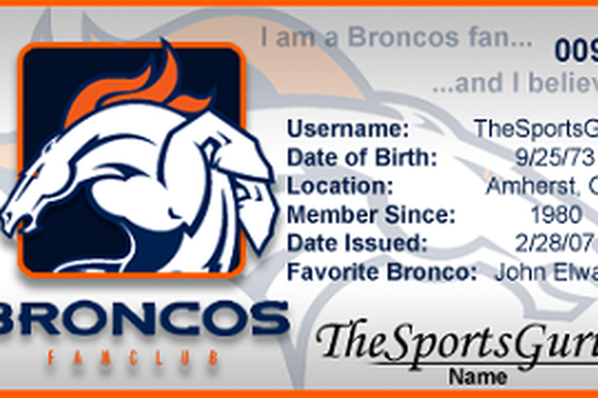 I am a loyal resident of Broncos Country