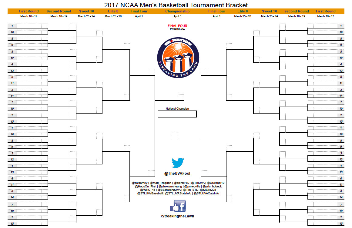 It is a photo of Gratifying March Madness Bracket Printable