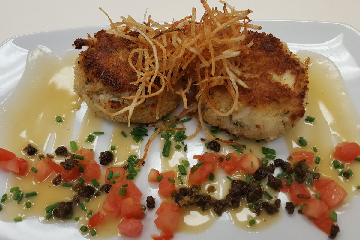 Crab cakes at The Charcoal Room