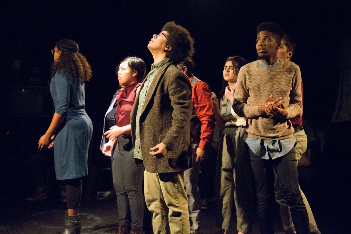 """In 2016, the Free Street Theater multigenerational ensemble presented """"100 Hauntings,"""" a multimedia performance based on real Chicago ghost stories that asked: What – and who – is haunting Chicago?"""