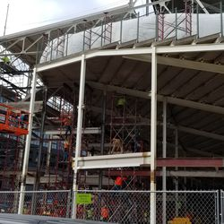 Closer view of the right field corner of the ballpark