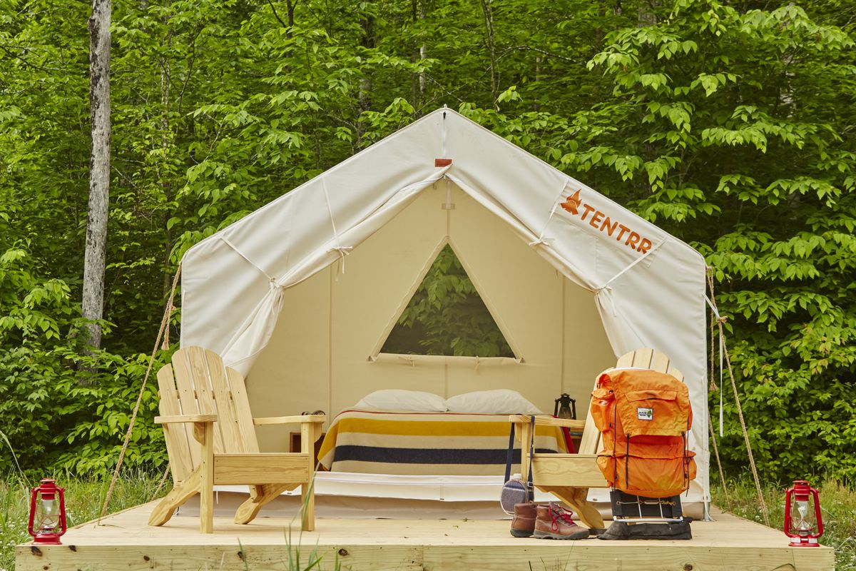 Tentrr makes camping easy with furnished campsites curbed for Tent platform design