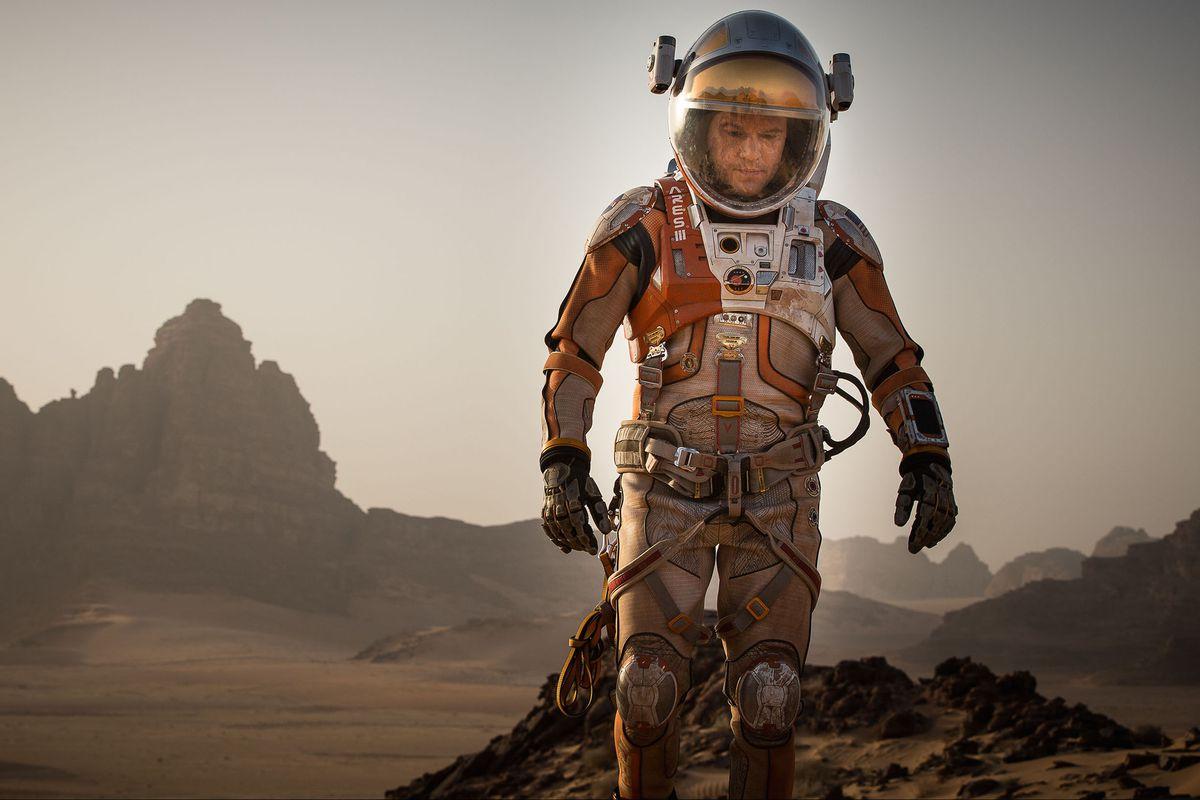 Astronaut Mark Watney (Matt Damon) is the only man on Mars.