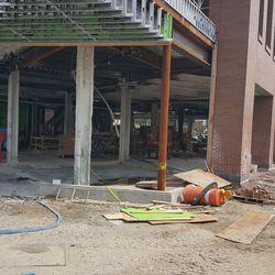 Ground floor of the plaza building, northwest corner -