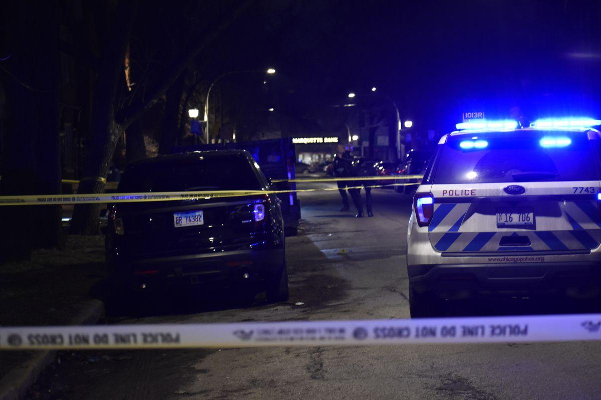 Police investigate the scene where a man was fatally shot Feb. 1, 2020 in Little Village.