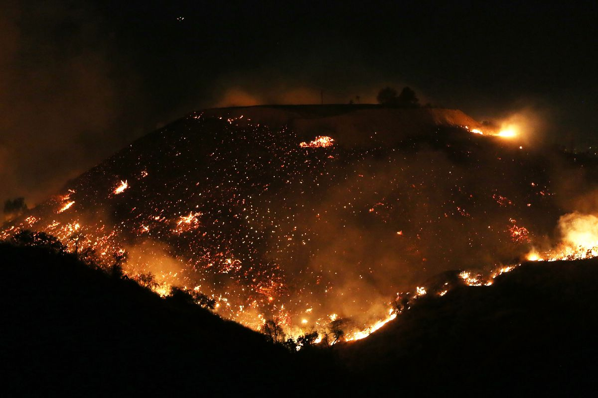 Creek And Skirball Fires Updates On The Southern California Blazes