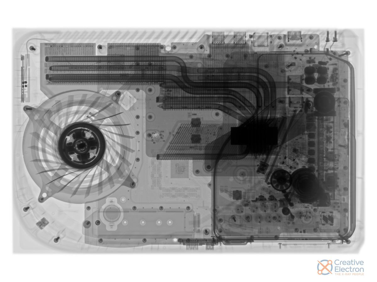 An x-ray image of the Playstation 5