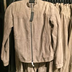 Suede jacket, size XS, $399 (was $995)