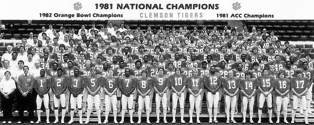 Clemson Tigers, 1981 National Champions