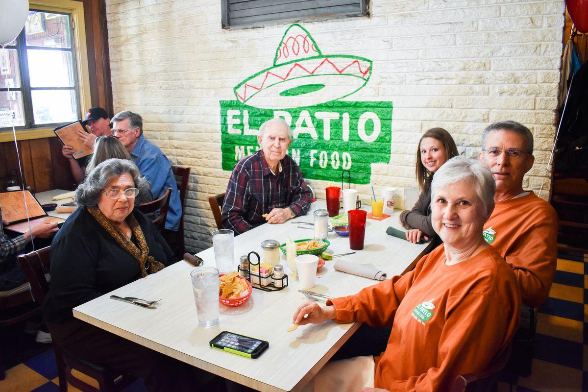 Charlene Zimmerman, Dr. Bob Wright, Rebecca Wright, Bobby Wright, and Mary Wright at El Patio's celebration