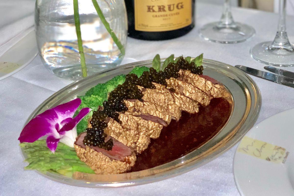 Mr Chow golden filet mignon