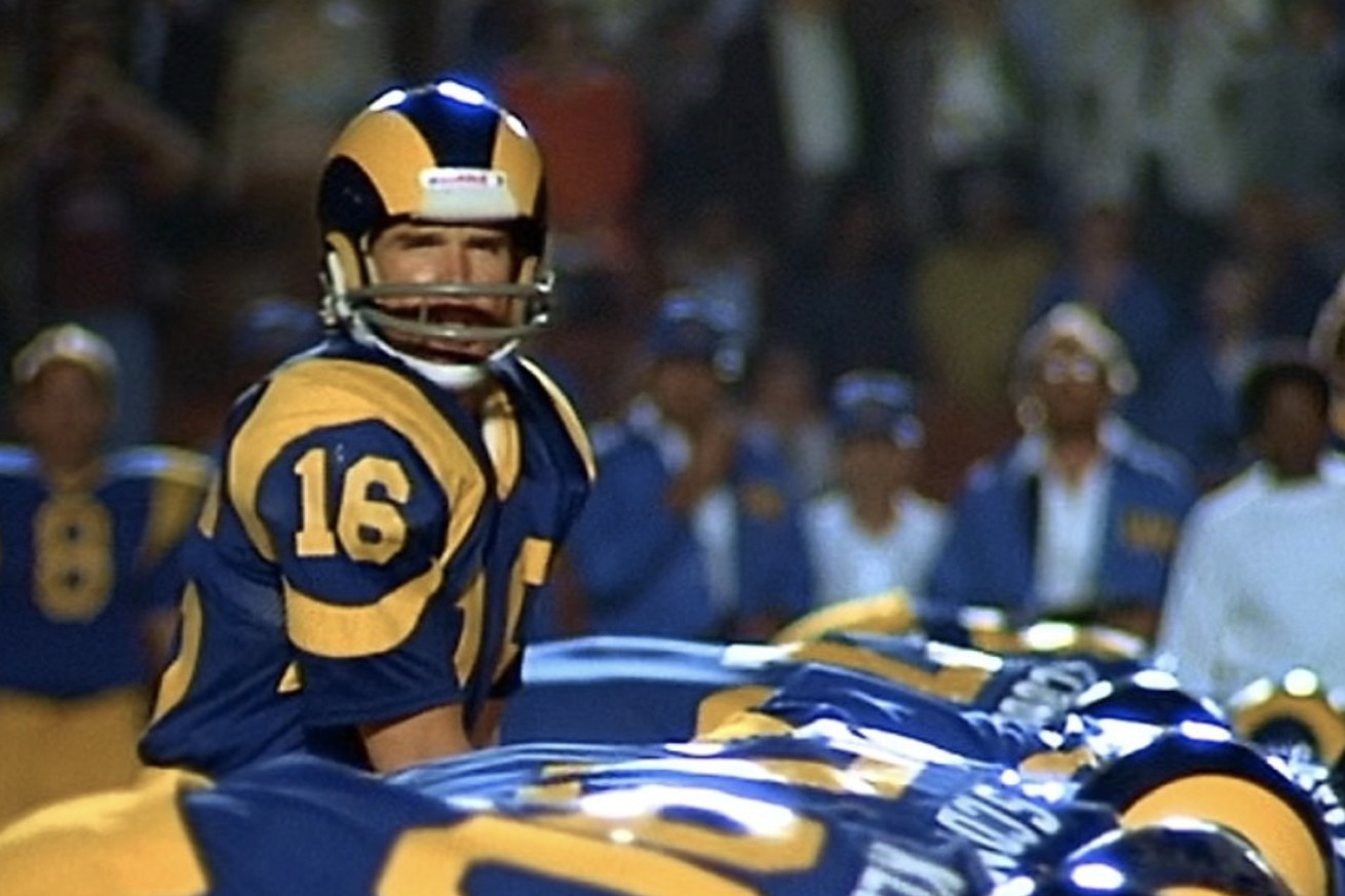 Screen Shot 2019 01 31 at 4.23.31 PM.0 - The only time the Rams wore these uniforms in the Super Bowl was in 'Heaven Can Wait'