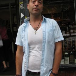 """Jesse, 29, employee at a wine store on Bedford Avenue: """"There are a lot of very expensive clothing stores in Williamsburg, and there is room for something medium price. We recently lost our precious Salvation Army Thrift Store, so the cheapest t shirt you"""