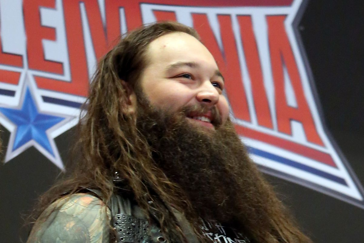 WWE professional wrestler Bray Wyatt attends WWE WrestleMania Stars Ring The NYSE Opening Bell at New York Stock Exchange on March 29, 2016 in New York City.
