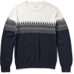 Intarsia knitted cotton sweater, $207 (was $345)