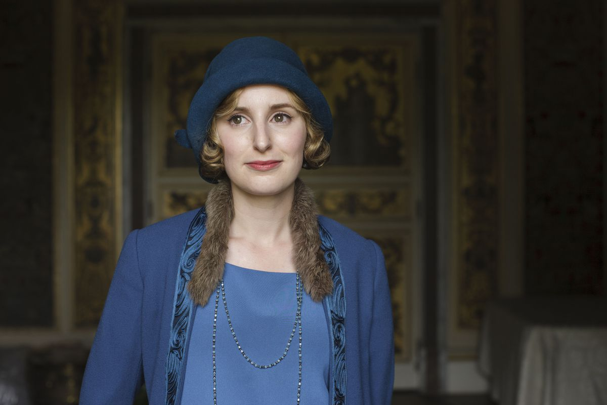 Lady Edith looking wistful in the series finale of Downton Abbey.