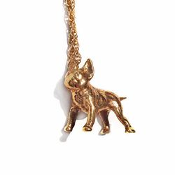 """Tiny Frenchie Lover French Bulldog Charm Necklace, <a href=""""http://www.verameat.com/collections/under-100-neck/products/tiny-frenchie-lover"""">$88</a> at <b>Verameat</b>"""