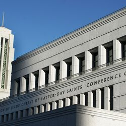 The Conference Center prior to the Sunday morning session of the 191st Semiannual General Conferenceof The Church of Jesus Christ of Latter-day Saints in Salt Lake City on Sunday, Oct. 3, 2021.